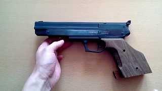 пневматический пистолет Gamo Compact (обзор, данные отстрела по скорости, точности, кучности, цена)