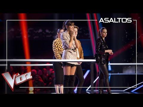 Luis Fonsi y Paulina Rubio luchan por robar a Beatriz Pérez | Asaltos | La Voz Antena 3 2019