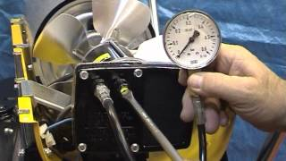 B150 CED - Checking and adjusting the compressor air pressure