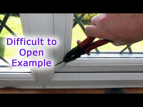 The Handle Moves but the Window won't Open (Difficult to open example)
