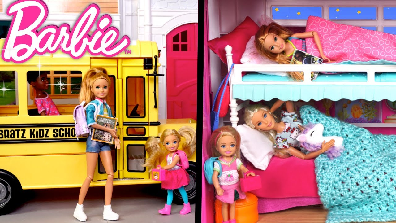 Download Barbie Sisters Morning to Night Routine School Life Episodes - Titi Toys & Dolls
