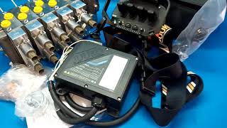juuko remote radio 4 handle manipulators + Hydraulic valve HM Line 4 functions 120l/min 33 GPM Full proportional 12 V video