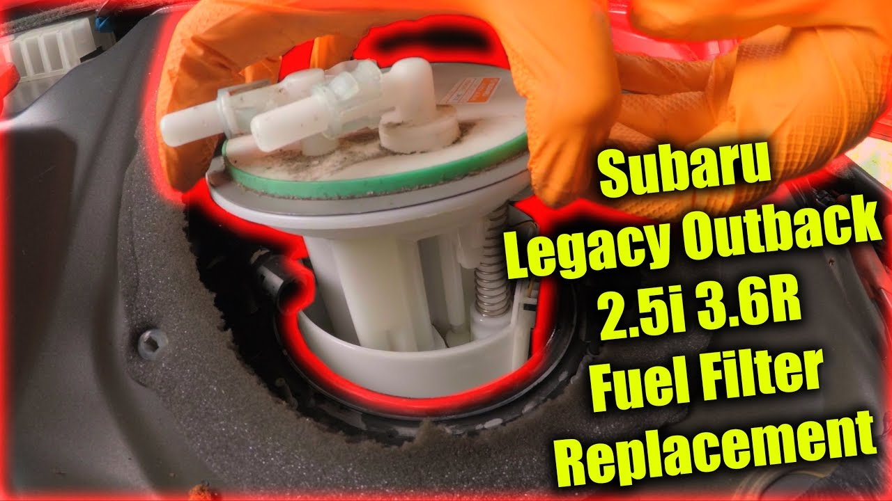 subaru legacy outback 2.5i 3.6r fuel filter replacement - youtube  youtube