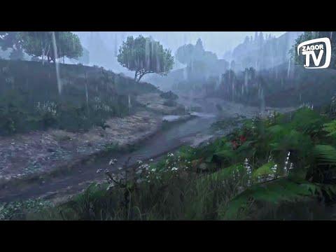 Gök Gürültülü Sağanak Yağmur Sesi - 30 Dakika