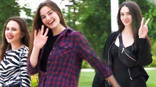 Beautiful Russian Girls on Walking Street in Russia (Krasnodar)