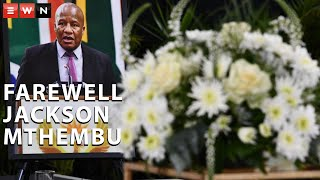 Fighting back tears, Thuli Mthembu sent a heartfelt tribute to her father, Jackson Mthembu, on Sunday, 24 January 2021. Mthembu was laid to rest after succumbing to COVID-19 last week.  #COVID19 #JacksonMthembu #RIPJacksonMthembu