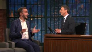 "Jan Böhmermann bei ""Late Night with Seth Meyers"""