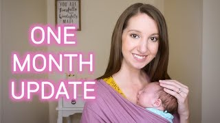 ONE MONTH BABY UPDATE | POSTPARTUM UPDATE | Erika Ann