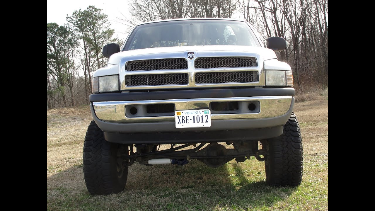 Dodge ram 4x4 jacked lifted 360 ram v8 mud boggers lift kit off road ram tuff youtube