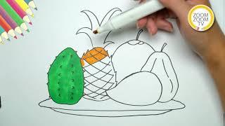 Hướng dẫn cách vẽ Mâm ngũ quả ngày Tết - How to draw fruit Tray for Tet Holiday