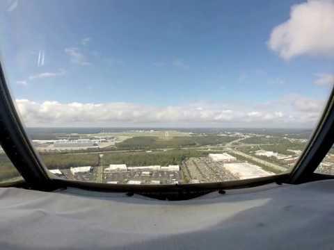 Charleston SC international airport Cockpit View