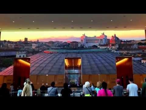 Eternally Rome. Comcast center video wall special feature for Popes visit to Philly.