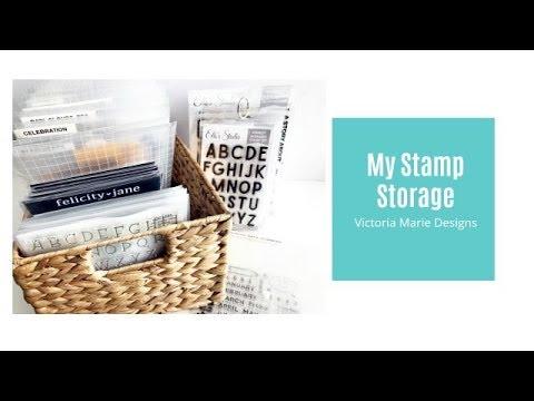Stamping Like a Boss   My Stamp Storage!