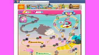 Candy Crush Saga Message Center at Facebook