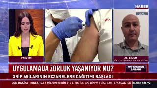 2020-10-24 - TEİS Grip Aşıları Haberi - HaberTürk TV Hasftasonu Sabahı - Ecz Ali Erdem
