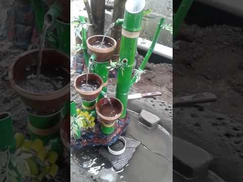 Air mancur bambu model mangkok