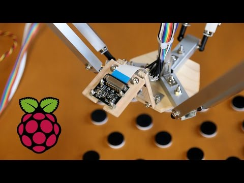 Raspberry Pi Delta Robot Tries To Build A Tower