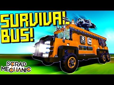 Epic Survival Bus, Classy Yacht, IMPORTANT ANNOUNCEMENT! [FW 17] - Scrap Mechanic Gameplay