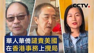 华人华侨谴责美国在香港事务上搅局 | CCTV