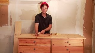 How To Sand Pine Furniture : Home Improvements