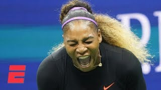 Serena Williams comes back to defeat 17-year-old Caty McNally   2019 US Open Highlights