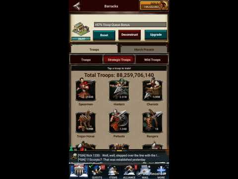 Game of War Fire Age How many troops should I have?