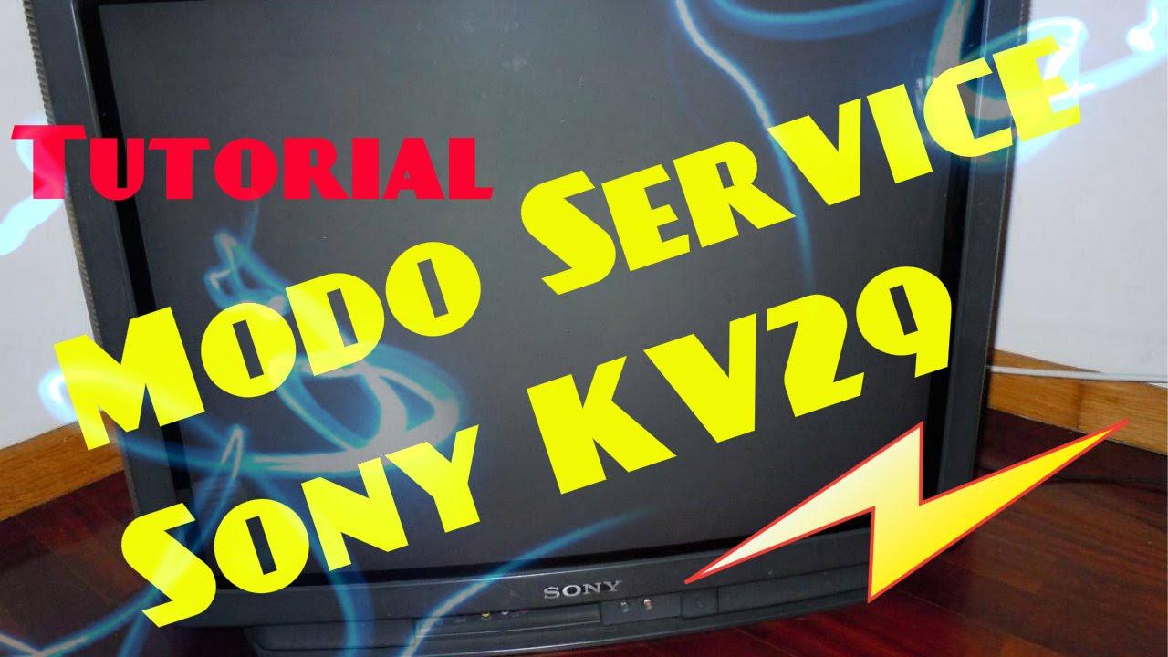 Tutorial | Modo Service TV SONY Modelo KV29VL65A Trinitron