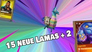 15 Geburtstagslamas öffnen + 2 Super Leute Lamas   Fortnite Rette die Welt