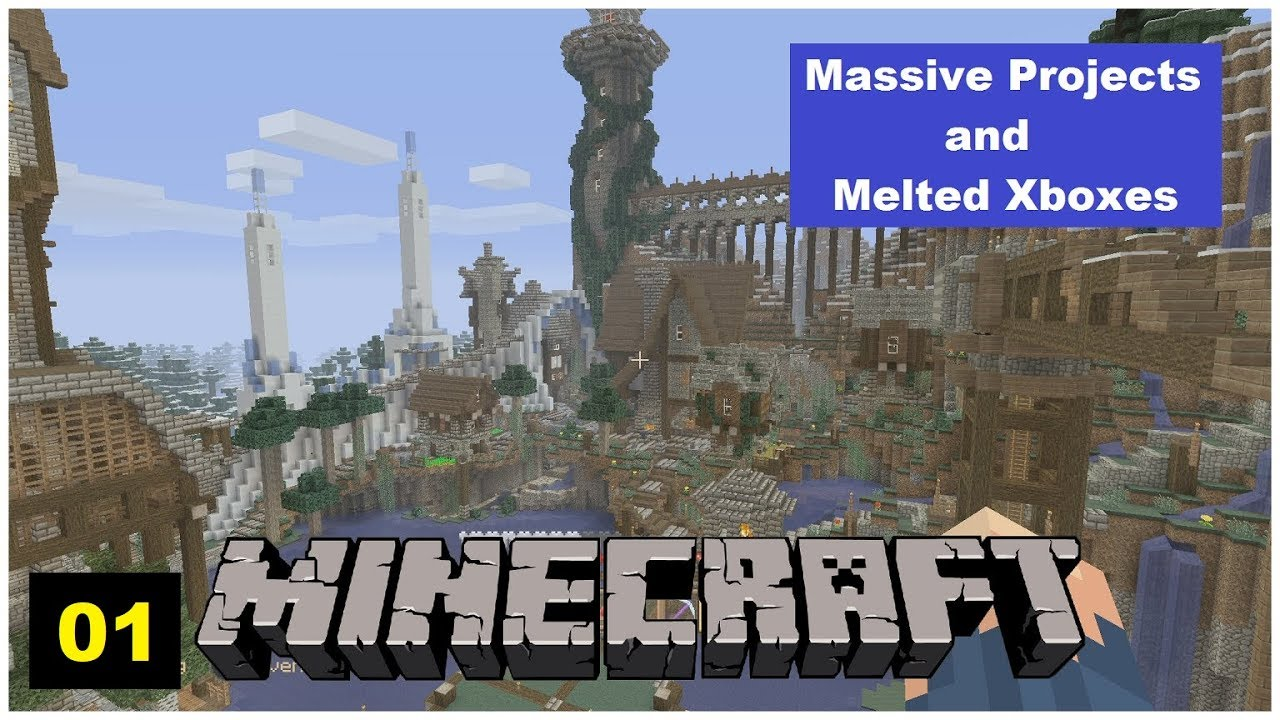 Survival Minecraft - Massive Projects and Melted Xboxes