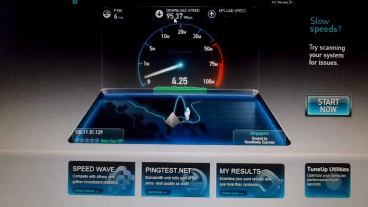 MyRepublic Speedtest at Bukit Panjang