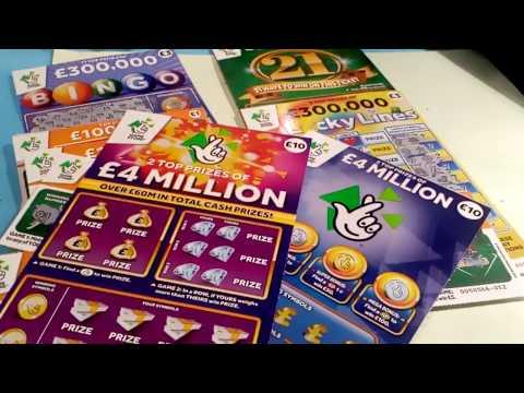 Scratchcards...21 GREEN...CASH WORD...BINGO...MONOPOLY...LUCKY LINES