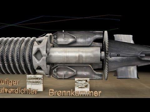 3D Animation Jumo 004 Strahltriebwerk.wmv