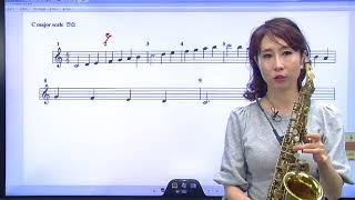[유옥 색소폰 초급] 05강 major scale 연습방법 및 간단이해(2)