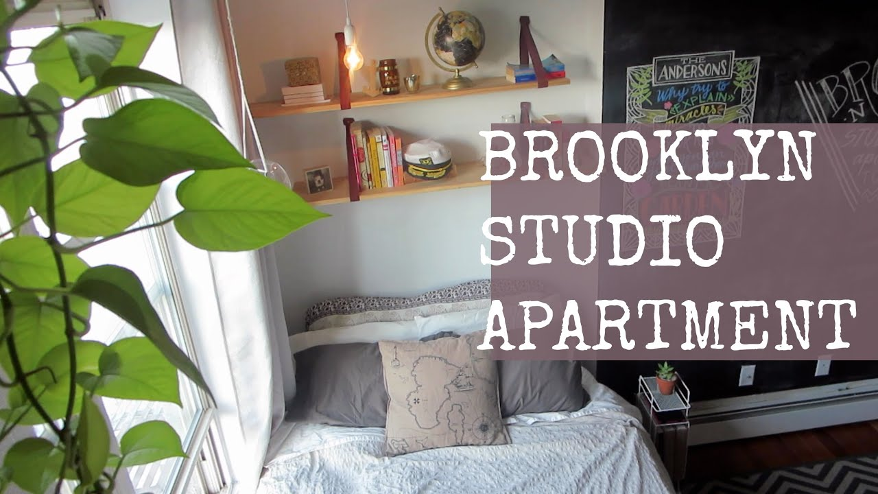 STUDIO APARTMENT TOUR // Brooklyn, NY   YouTube