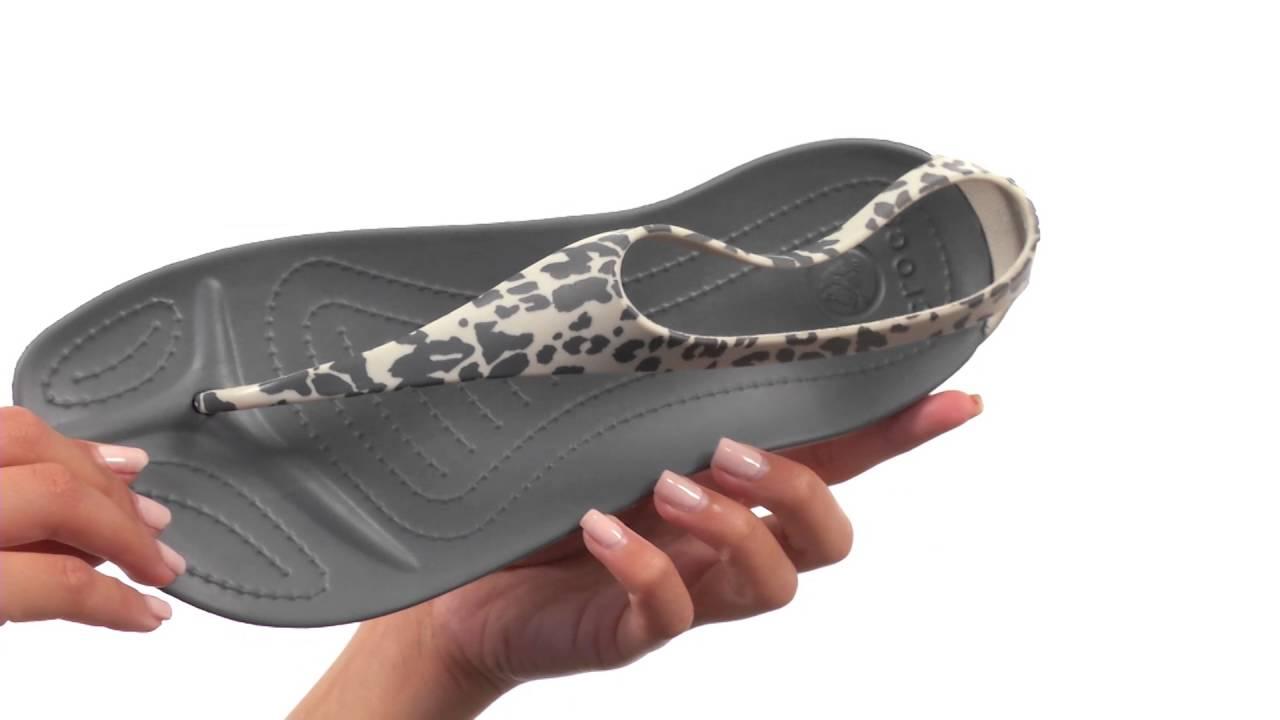 oficjalny sklep na stopach o sprzedaż hurtowa Crocs Sexi Leopard Print Flip SKU:8648821