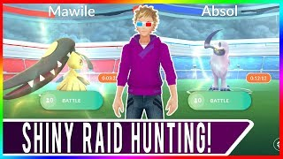 Pokemon GO Shiny Mawile Raid and Shiny Absol Raid Hunting in San Francisco!