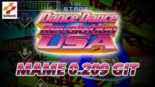 Dance Dance Revolution USA - MAME 0.209 GIT - 60FPS Native