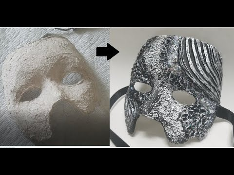 Venetian Mask - DIY from scratch, 3D paper mask