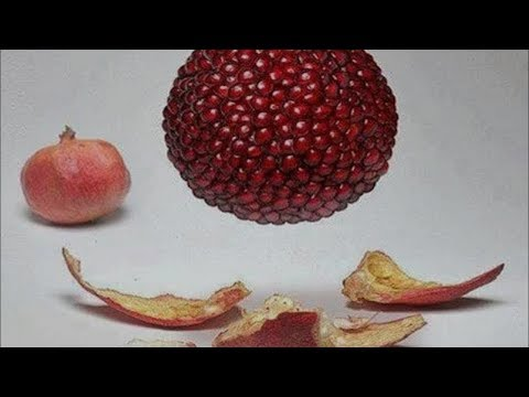 The CORRECT  Way To Open & Eat A Pomegranate !!