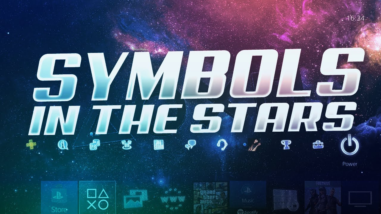 How To Get E3 Ps4 Theme Symbols In The Stars Dynamic Theme World