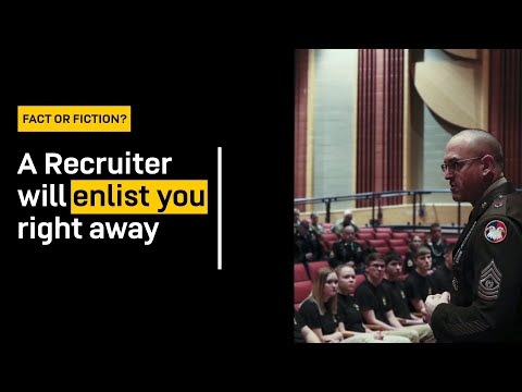 Mythbusting: Do You Enlist The Same Day That You Meet With A Recruiter? | GOARMY
