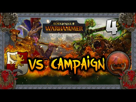 A SAVAGE STRIKE! Total War: Warhammer - Greenskins VS Empire Campaign w/ LegendofTotalWar #4