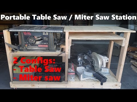 Compact and Portable Table Saw / Miter Saw Station