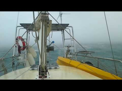 Mangles Bay Rockingham WA Winter Storm 2016 from yacht Globe Trekkin