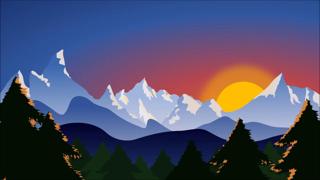 Landscape Illustration Vector Free: Vector Illustration Made With Inkscape
