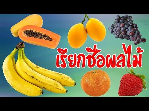 เรียกชื่อผลไม้