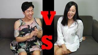 韩国调皮姐弟互穿对方的衣服,疯狂的姐弟居然..... 친누나랑 옷을 바꿔입어보았습니다