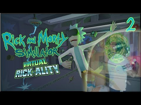 RICK AND MORTY: VIRTUAL RICK-ALITY | ¡CONTRA LA PARED! Taking the plunge | Upgrade Rick's car