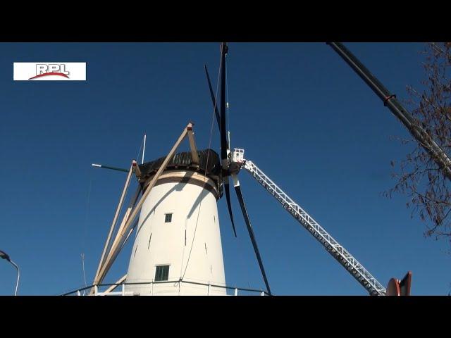 Nieuwe wieken aan molen de Arkduif in Bodegraven
