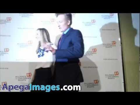 Conan O'Brien and Liza Powel attends at the Alliance for Children's Rights Dinner